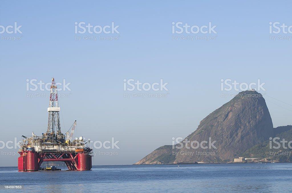 Oil Industry in Brazil royalty-free stock photo