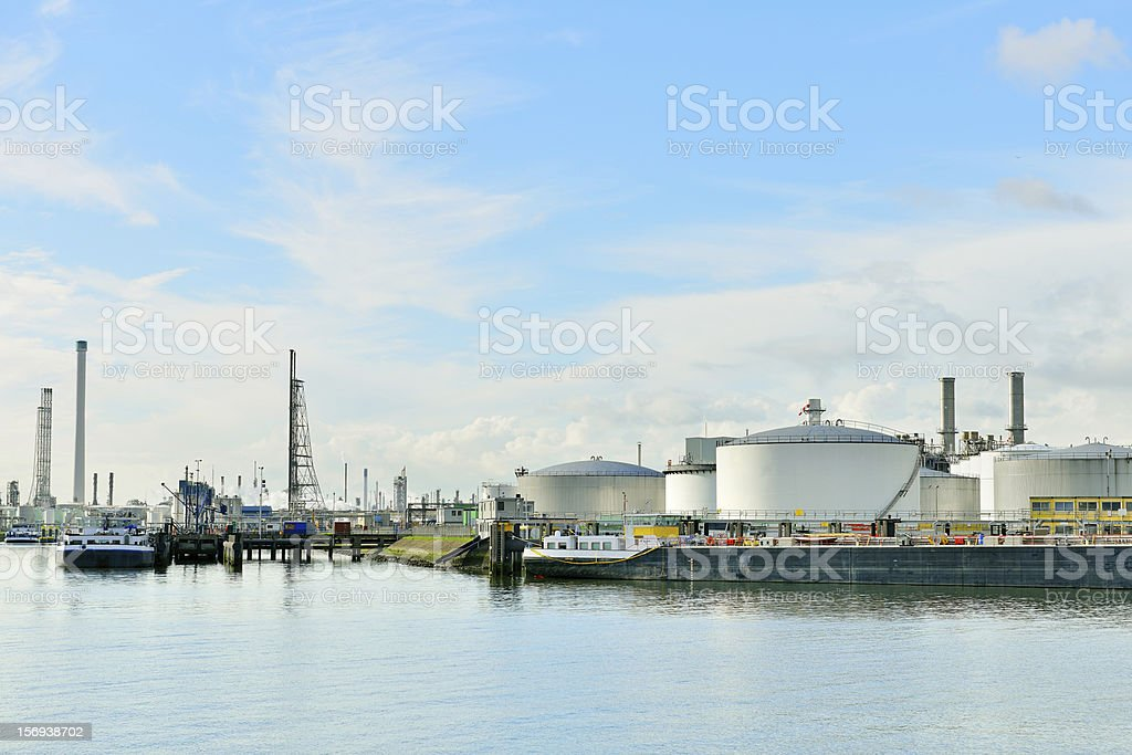 oil industry in the port of rotterdam royalty-free stock photo
