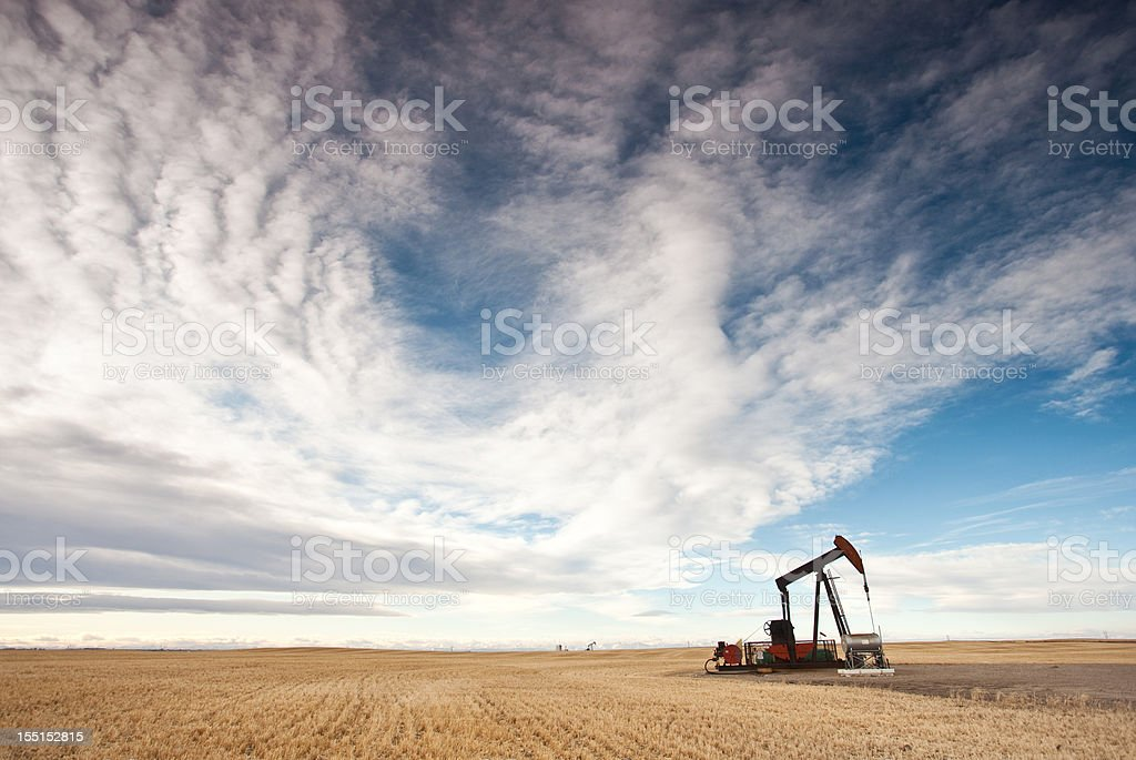 Oil Industry in the United States Midwest royalty-free stock photo