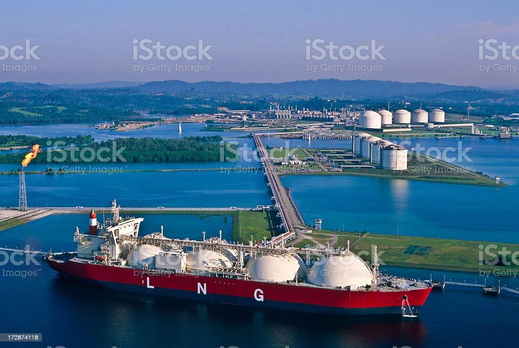 Oil Industry, LNG Tanker stock photo