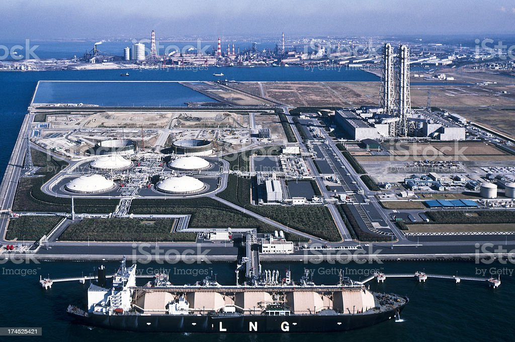 Oil Industry, LNG tanker. royalty-free stock photo