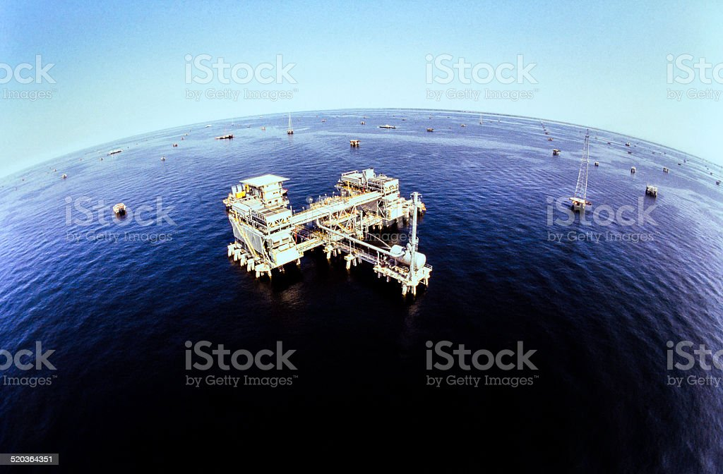 Oil Industry Offshore Operation Platform stock photo