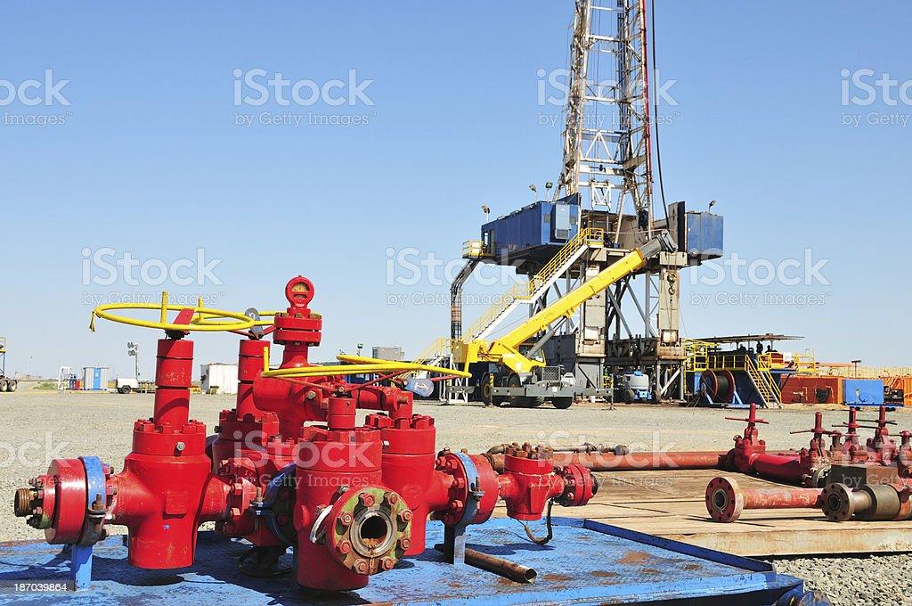 Oil industry (Choke Manifold) royalty-free stock photo