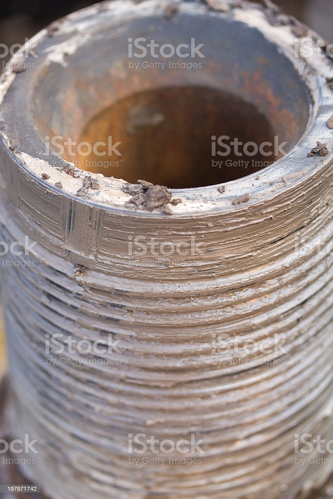 oil industry pipe connection royalty-free stock photo