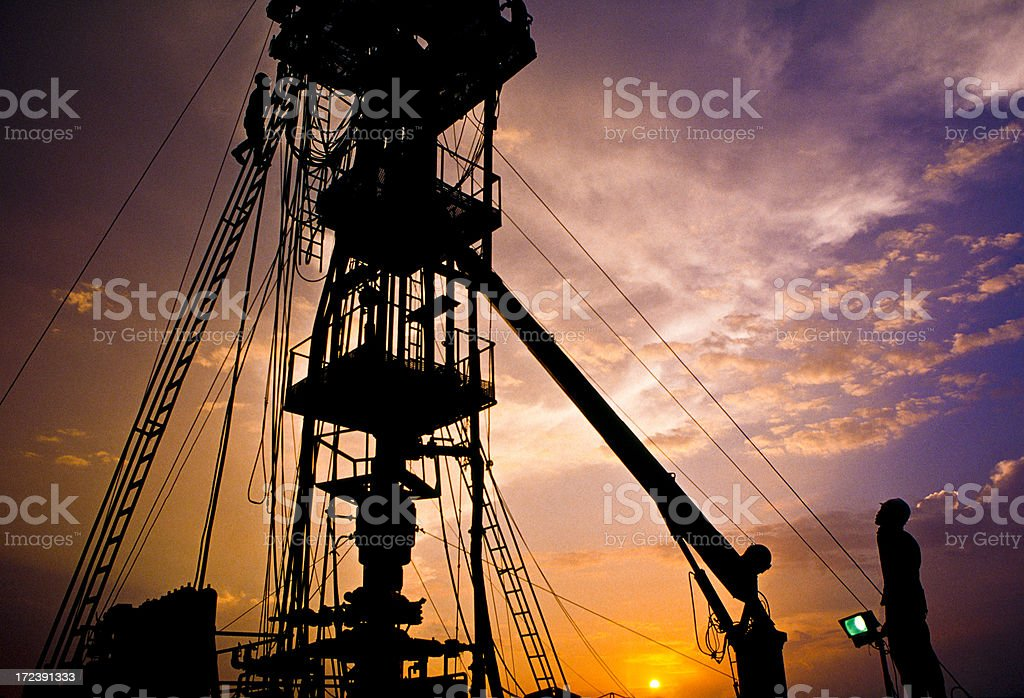 Oil Industry, platform. royalty-free stock photo