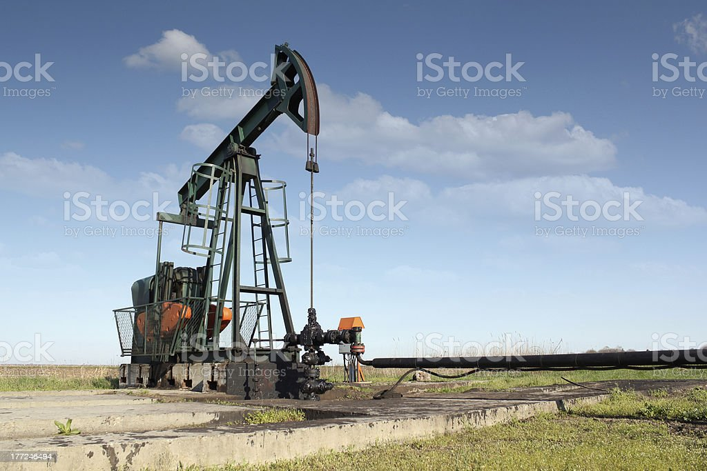 oil industry pumpjack royalty-free stock photo