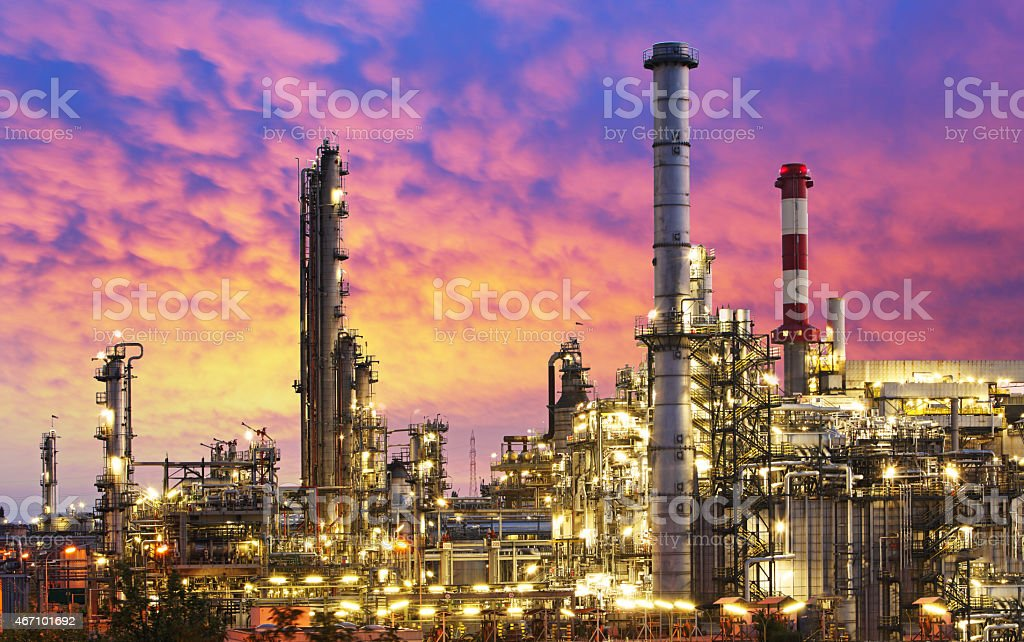 Oil Industry - refinery factory stock photo