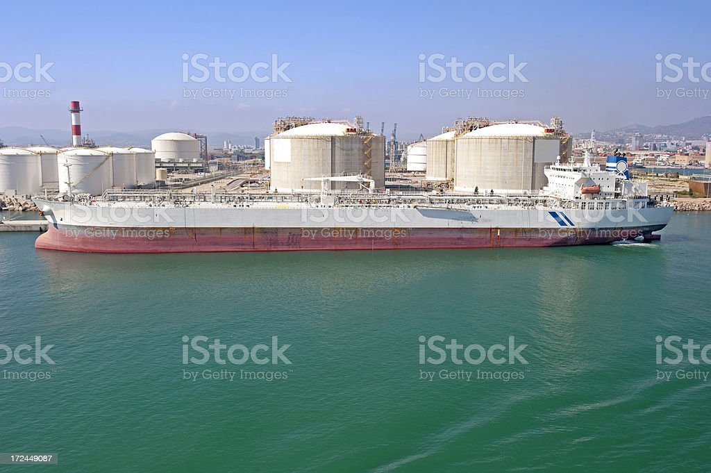 Oil industry, sea transport terminal royalty-free stock photo