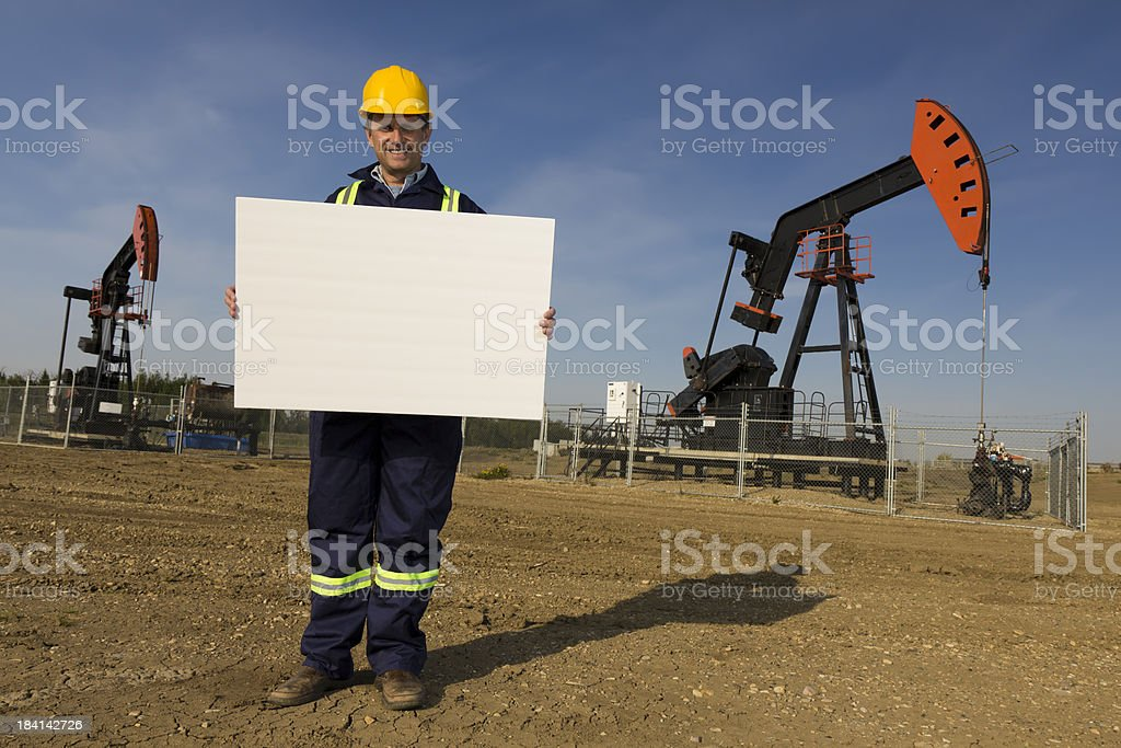 Oil Industry Sign royalty-free stock photo
