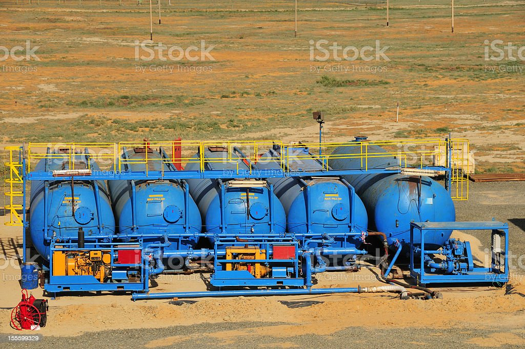 Oil industry - storage tanks royalty-free stock photo