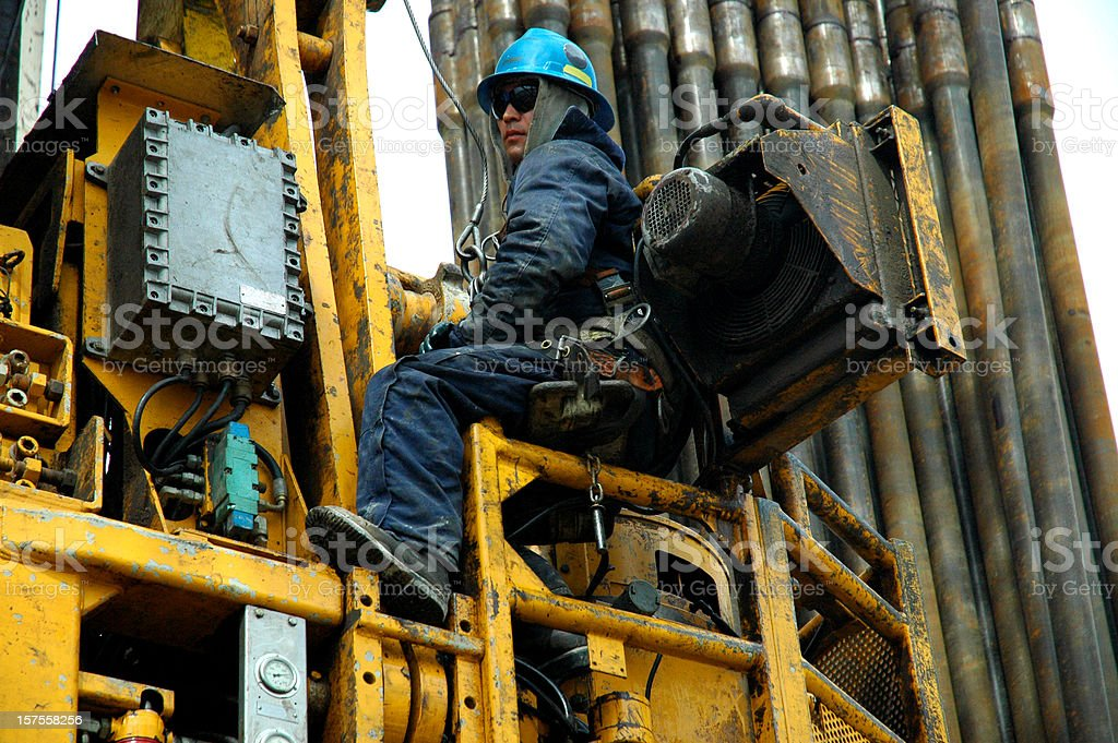 Oil industry - top drive service royalty-free stock photo