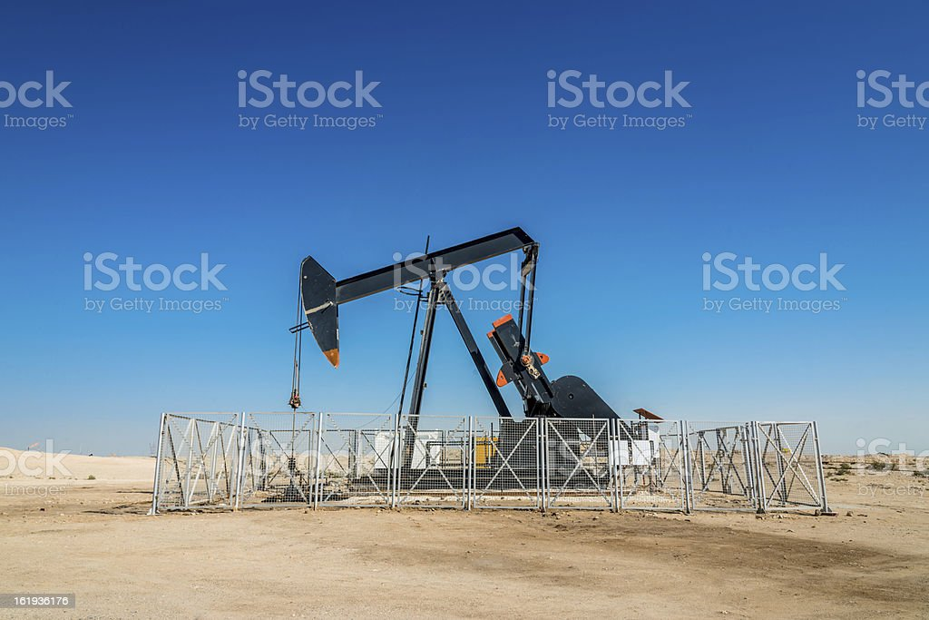 Oil Industry Well Pump stock photo