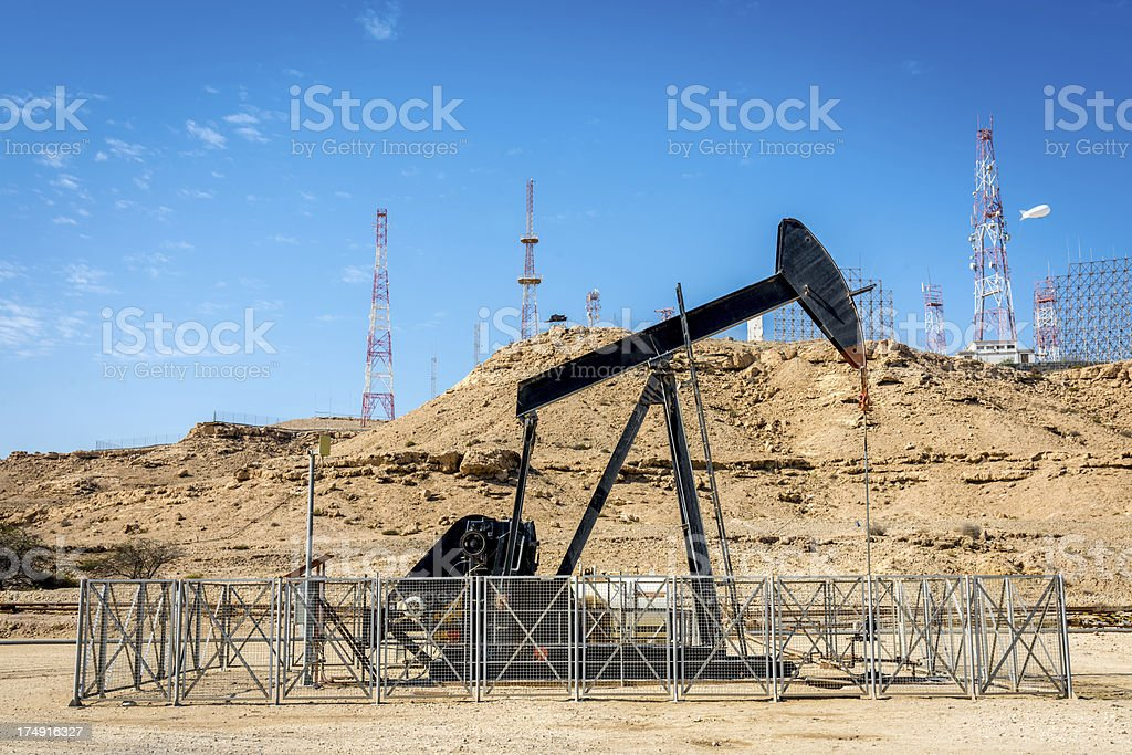 Oil industry well pumps royalty-free stock photo