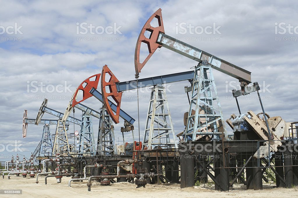 Oil Industry.Pumpjack. royalty-free stock photo