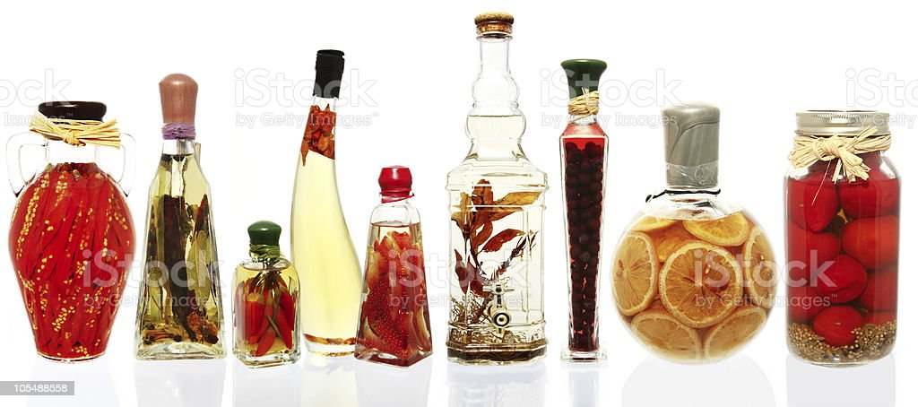 Oil Infusions and Preserves stock photo