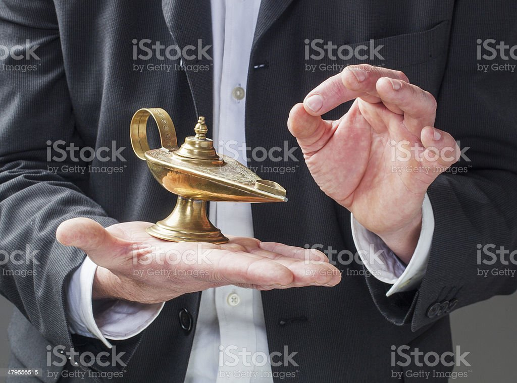 oil lamp for wishing success to the company royalty-free stock photo