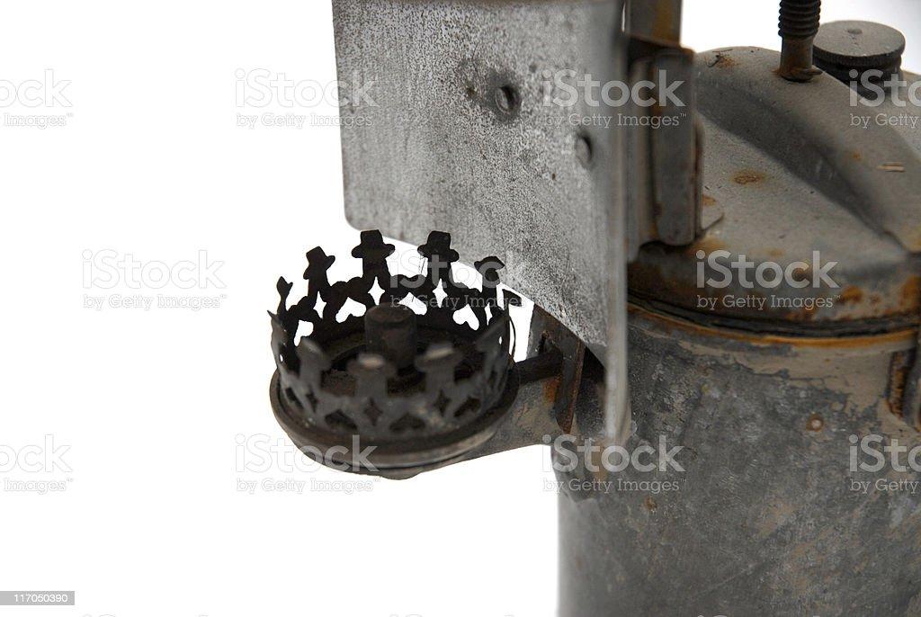 Oil lamp lighter detail royalty-free stock photo
