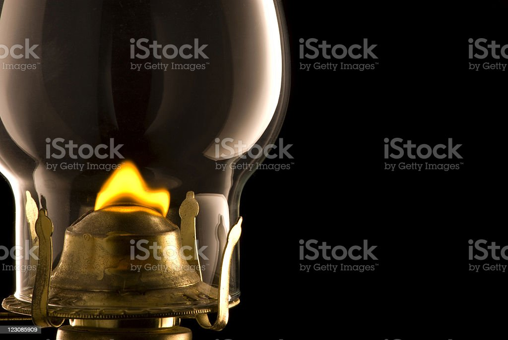 Oil Lamp on Black #2 royalty-free stock photo
