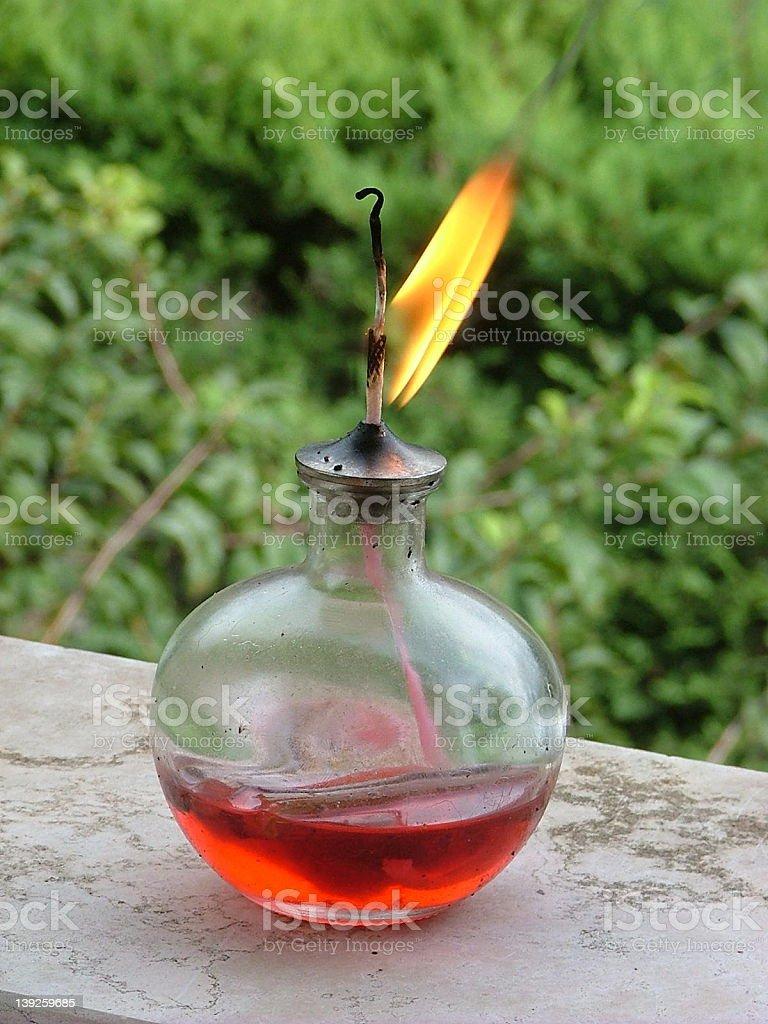Oil lamp stock photo