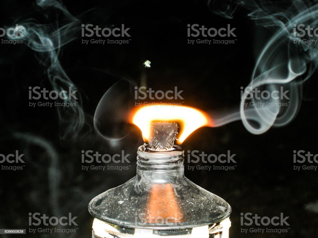 Oil Lantern Flame stock photo