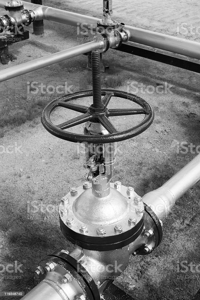 Oil latch royalty-free stock photo