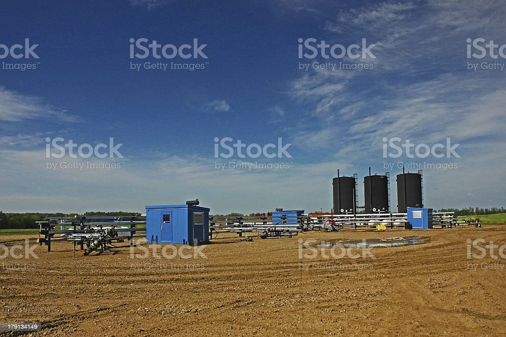 Oil lease royalty-free stock photo