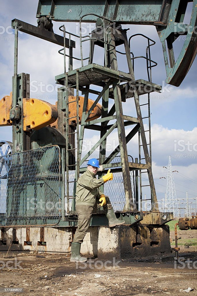 Oil man royalty-free stock photo