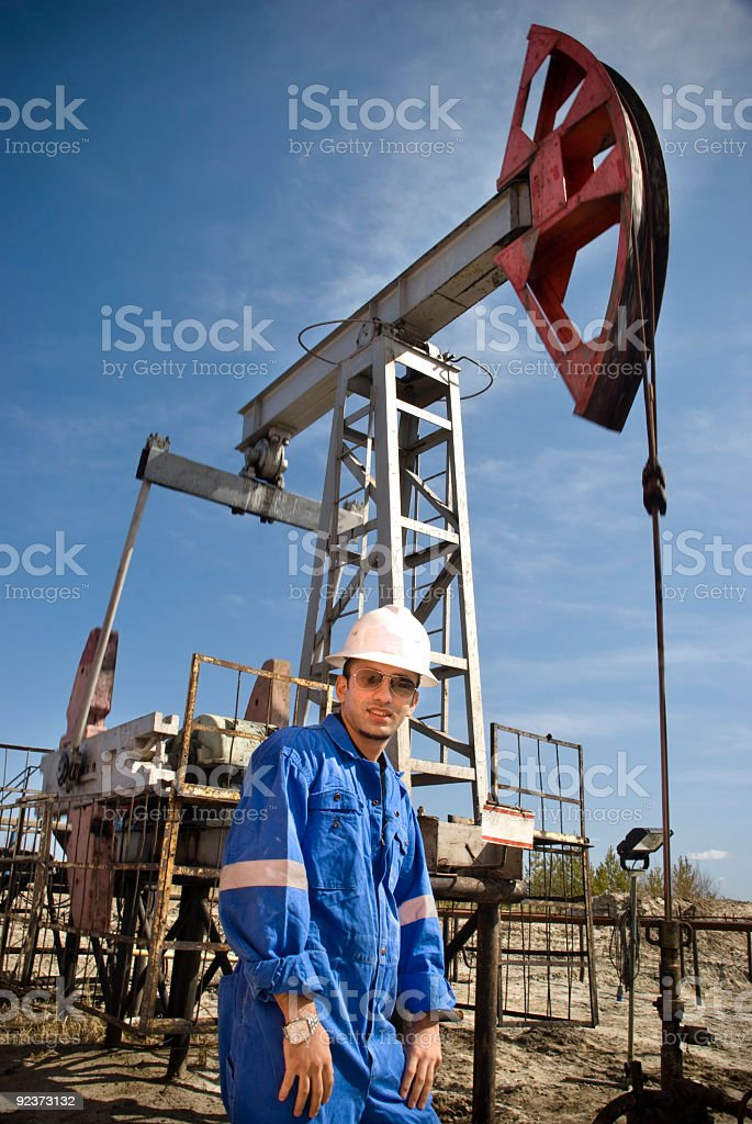 Oil man stock photo