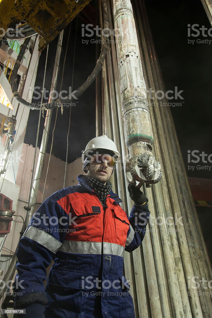 Oil Man starring with DB stock photo