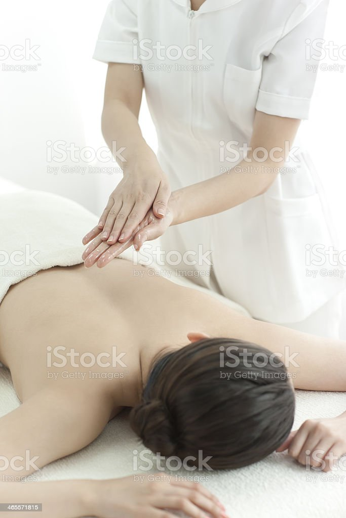 Oil massage royalty-free stock photo