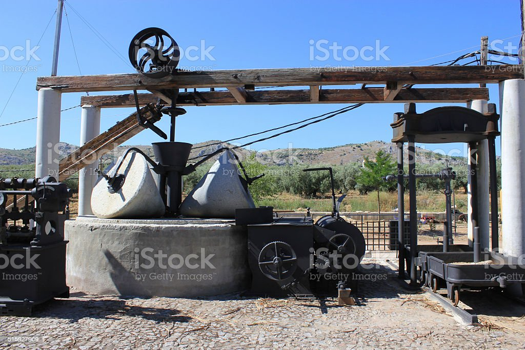 Oil Mill stock photo