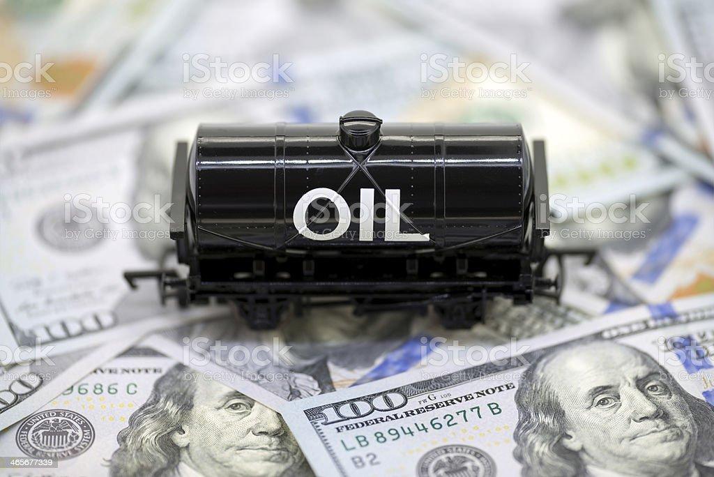 Oil Money stock photo