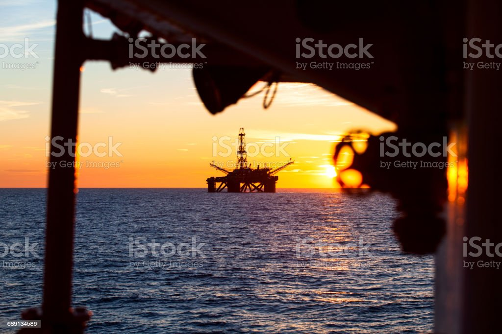 Oil nad gas industry stock photo