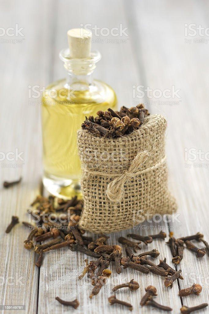 Oil of cloves stock photo