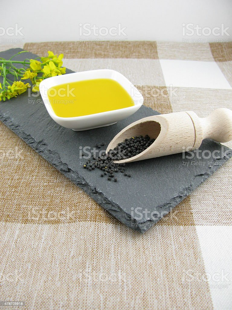 Oil of rapeseed stock photo