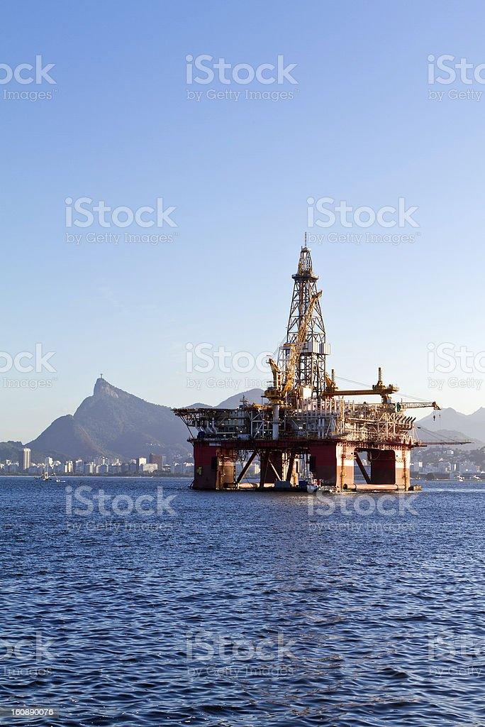 Oil offshore platform royalty-free stock photo