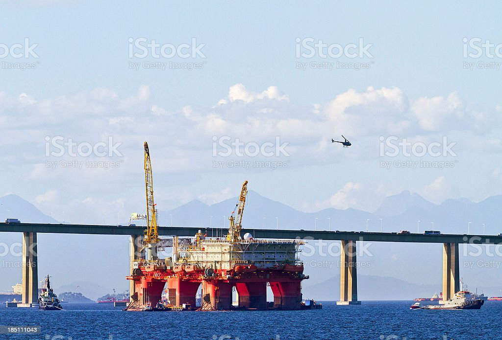 Oil offshore platform stock photo