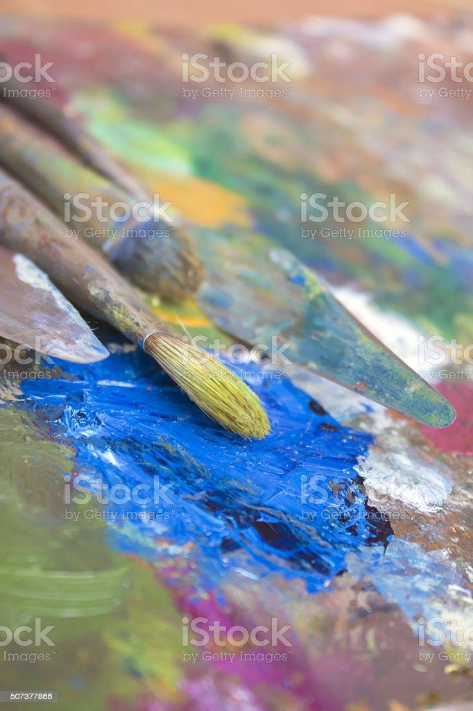 oil paint stock photo