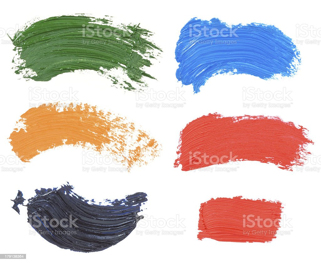 oil paint spot isolated on white royalty-free stock photo