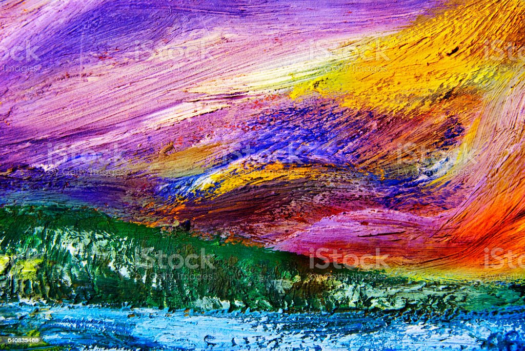 Oil paint texture stock photo