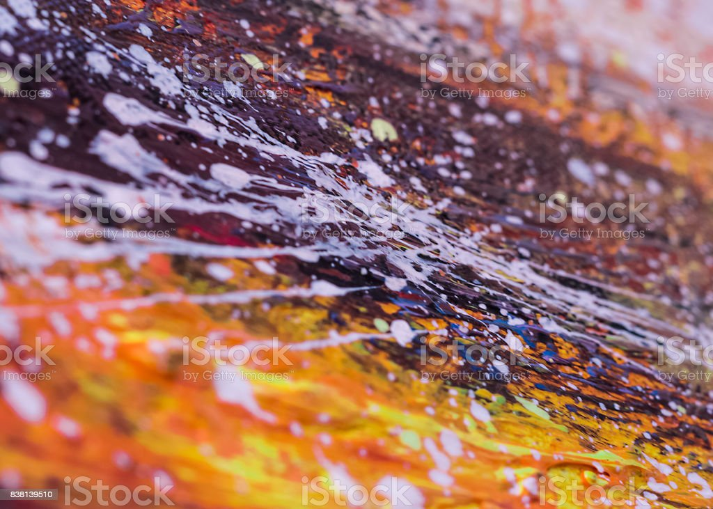 Oil painted colourful abstract composition stock photo