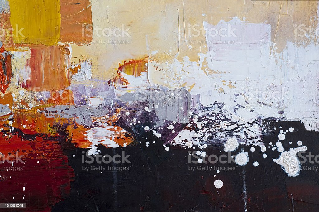 oil painting fragment royalty-free stock photo