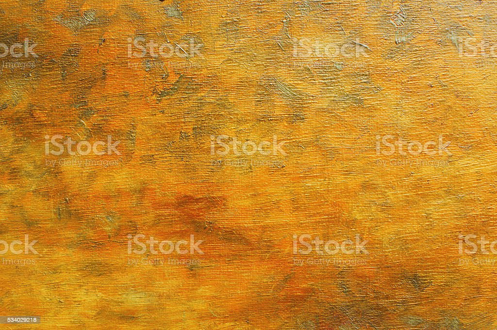 Oil painting orange brown abstract background vector art illustration
