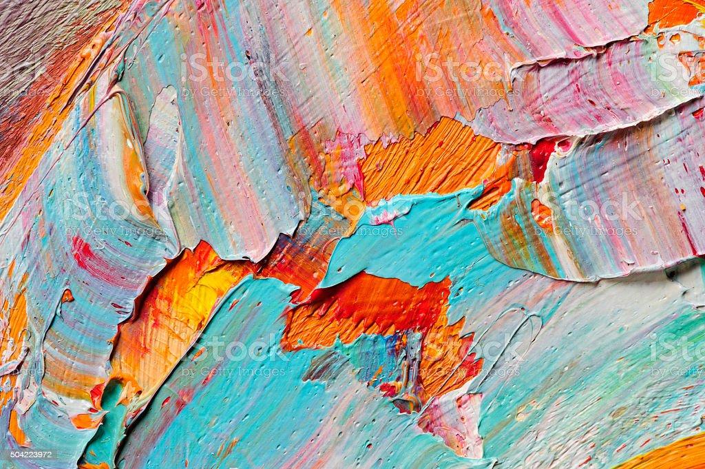 Oil paints macro vector art illustration
