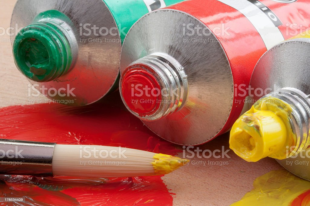 Oil Paints stock photo