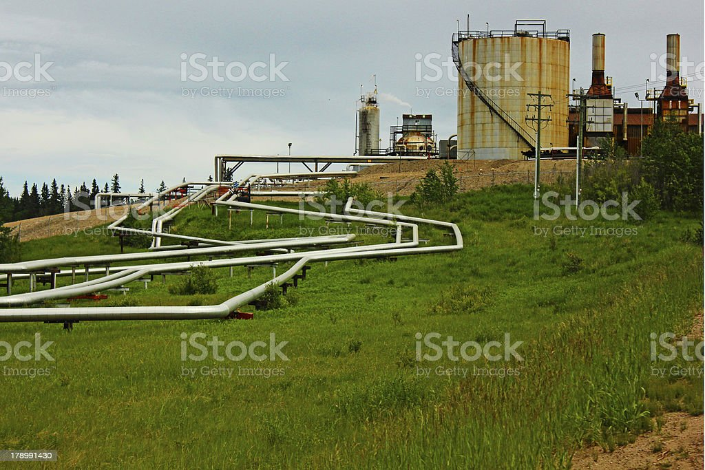 Oil Patch stock photo