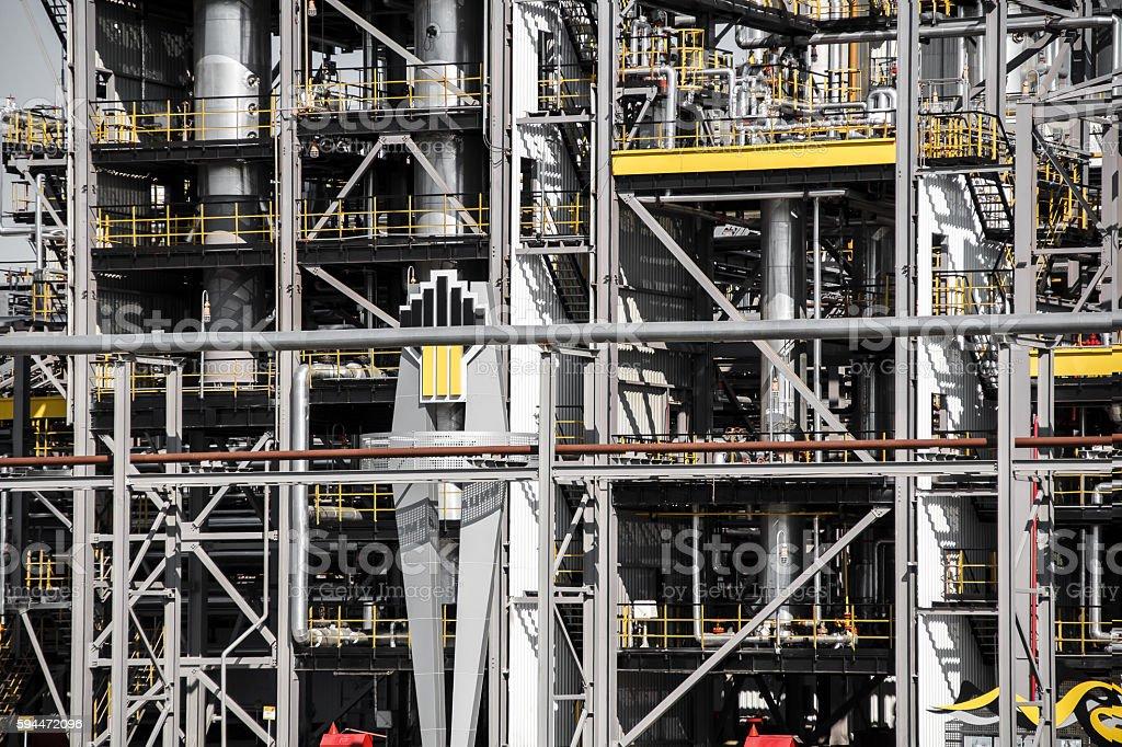 oil petrolium manufacturing industrial plant stock photo