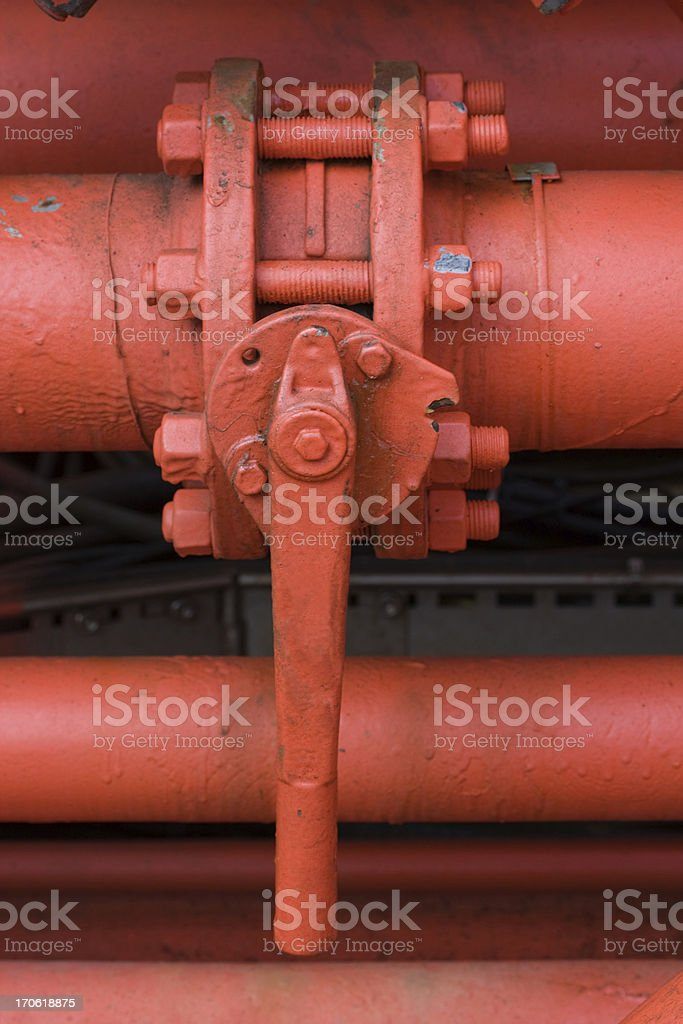 oil pipe valve closed royalty-free stock photo