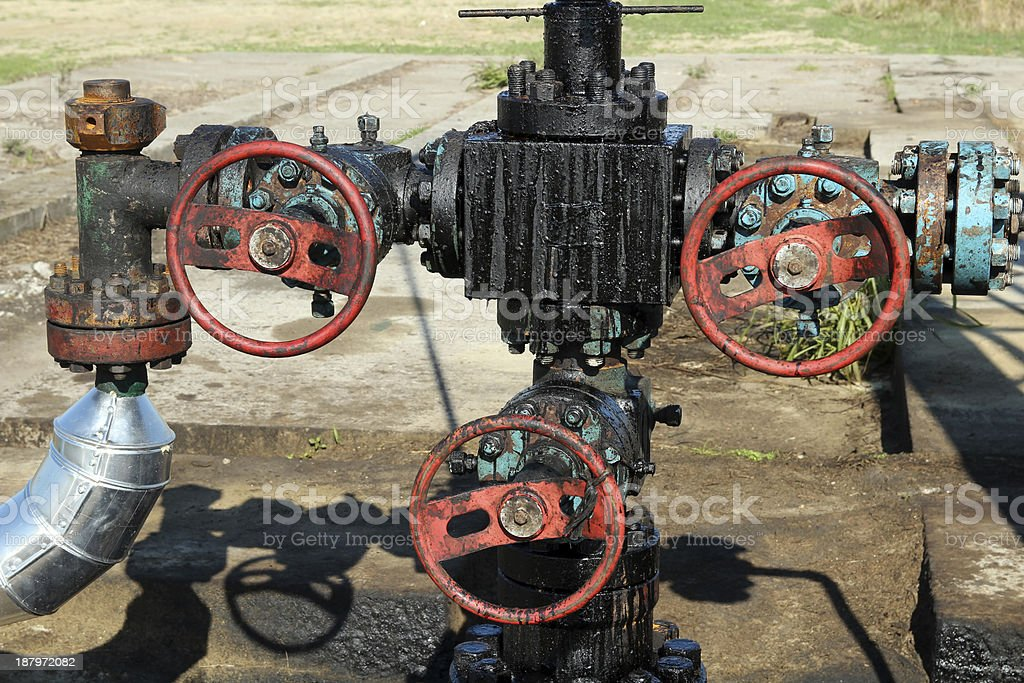 Oil Pipeline and Valves royalty-free stock photo