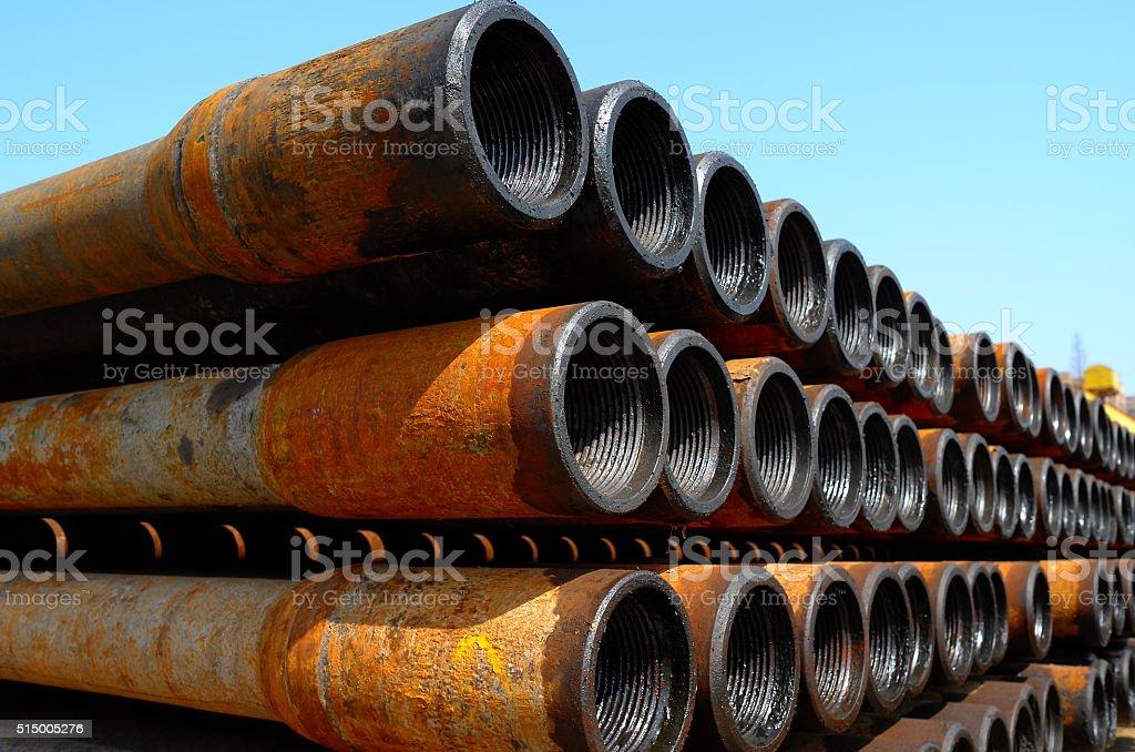 Oil pipeline array stock photo